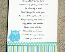 baby shower book instead of card poem baby shower book poem sorepointrecords