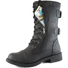 womens black combat boots size 9 dailyshoes s lace up buckle combat boots mid knee