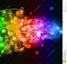 Glow In The Dark Lights Colorful Glow If Rainbow Lights Stock Vector Image 17823322