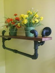 custom black pipe shelves tv stand diy pinterest and pipes idolza