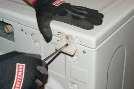 how to replace the door lock assembly on a front load washer