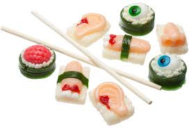 Sushi Body Parts Gummy Candy
