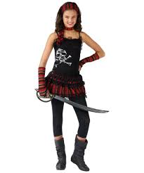 Girls Halloween Costumes Kids Skull Rocker Kids Pirate Costume Girls Costumes