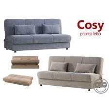 divanetto letto divano letto 3 posti prontoletto in tessuto con contenitore e cuscini