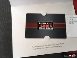 ruth s chris gift cards ruth s chris gift card 200 dollar image on imged