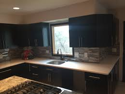 Tile Under Kitchen Cabinets 9 Best Ebony Kitchen Cabinets W Glass Tile Backsplash Images On