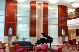 architectural panels in hospital lobby vaughn interior concepts