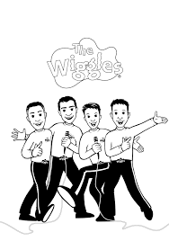 printable wiggles coloring pages coloring me