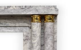 paquebot deco style custom made marble fireplace decorated