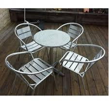 Aluminium Bistro Chairs Chic Aluminium Bistro Table And Chairs Hog Furniture Aluminium