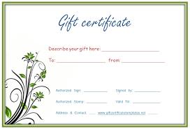 customize gift certificate vouchers blank certificates