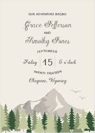 mountain wedding invitations mountain wedding invitations match your color style free