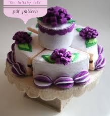 felt birthday cake 2 tier pdf pattern stand