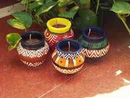 matki candles handmade candles in the traditional indian matkis