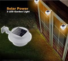 Solar Led Lights For Outdoors Solar Powered Led Fence Light Outdoor Garden Wall Lobby Pathway