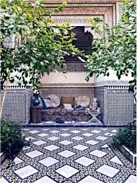 outdoor garden with moroccan tiles cleaning your outdoor tiles
