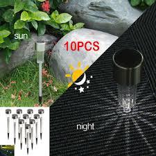 outdoor lawn lights 10pcs led solar decorative spot light spotlight solar panel