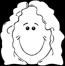 clipart lady face from world label