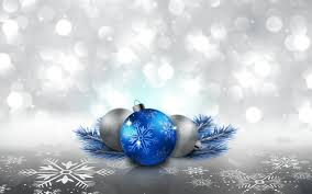 blue and silver ornaments full hd wallpaper and background