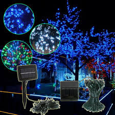 How To String Christmas Tree Lights by 200l Sp Series 200 Led Solar String Lights