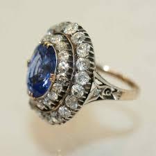 antique rings sapphire images Art deco cornflower this antique sapphire engagement rings kim jpg