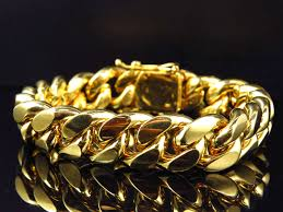 gold bracelet chain styles images Mens genuine 10k yellow gold handmade miami cuban link style jpg