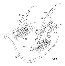 patent us8469757 modular fin surfboard sailboard