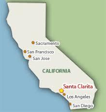 santa california map santa clarita maps