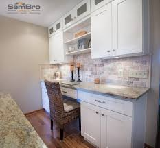 functional kitchen cabinets ice white shaker kitchen cabinets desk office in columbus ohio