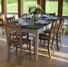slate dining room table medium painted slate top farmhouse table by slate top tables