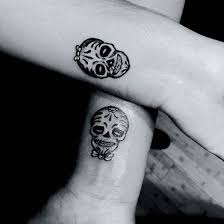 30 matching his and hers tattoos sugar skull tattoos