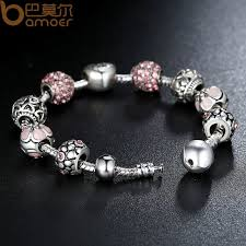 antique silver bracelet charms images Buy bamoer antique silver charm bracelet bangle jpg