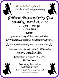 you are invited to celebrate goldcoast ballroom goldcoast ballroom spring gala saturday