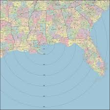 Map Radius Custom Territory U0026 Radius Maps Digital Vector U0026 Wall
