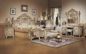 luxury middle east style king size bed custom made solid wood