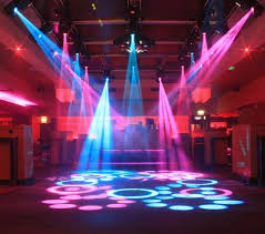 dj equipment and disco lights showman av