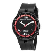 porsche design flat six porsche design flat six automatic black pvd steel mens p6310