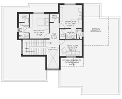 luxury modern homebuilder lucent floorplan modern home builder