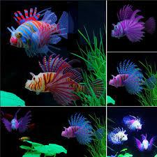 tank aquarium decoration accessories silicone fish artificial glow