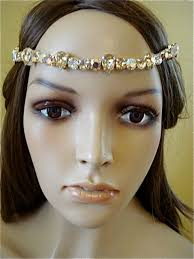 bridal headband gold bridal brow band headband the