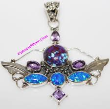 turquoise opal usa sp251693 shop our selection of angel wings purple turquoise