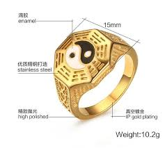 aliexpress mood rings images Classical chinese tai chi bagua yin yang halves graphics mood ring jpg