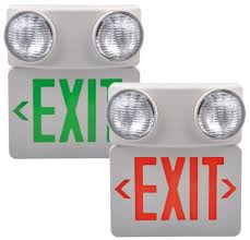 exit emergency light combo lx 7501lg r ul exit sign emergency light combo