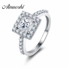 wedding ring brand 1 carat princess cut rings brand design high quality 925 sterling