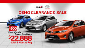 toyota demo cars for sale the jarvis toyota demo clearance sale is on now