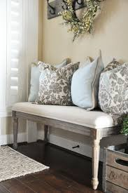 furniture foyer bench on pinterest with white wall design and