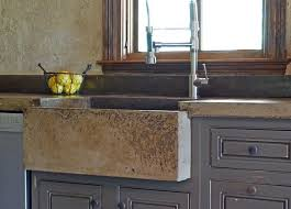 Concrete Kitchen Sink by Custom Tuscan Kitchen Farm Sink By Michael Demay Company
