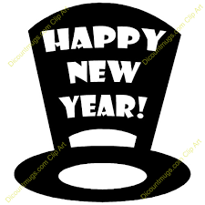 new year s tops new year clipart top hat pencil and in color new year clipart