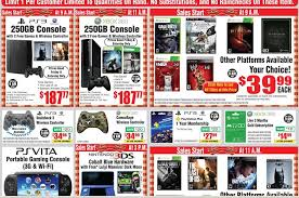 250gb xbox 360 ps3 bundles for 187 at fry s on black friday