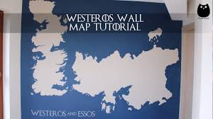 Map Of Westeros World by Diy Westeros Wall Map Tutorial Game Of Thrones Youtube